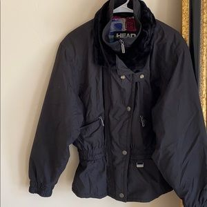 Head black ski jacket w/ patterned lining SIZE: 12